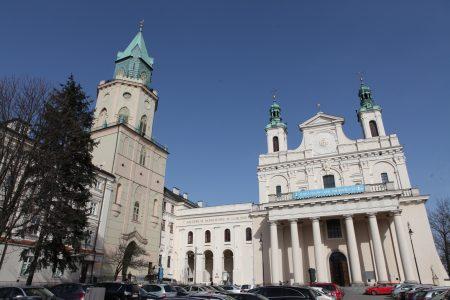 Троицкая башня и кафедральный собор в Люблине