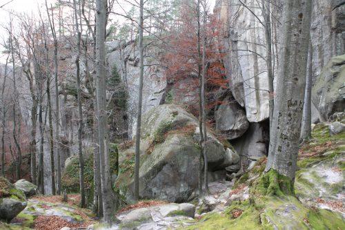 Скалы в парке