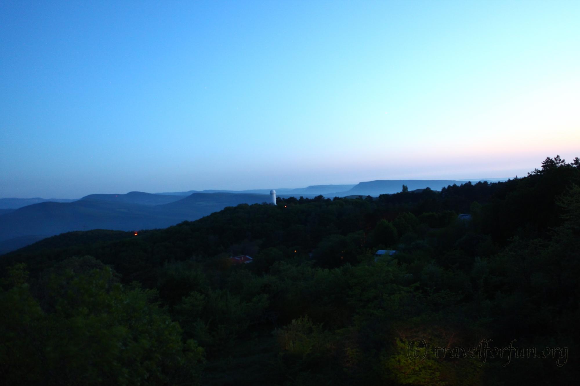Обсерватория в поселке Научный, Крым