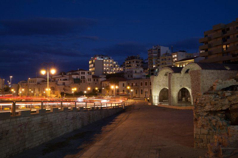 Ночной Ираклион, Крит