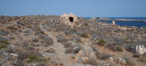 Развалины здания в крепости Грамвуса