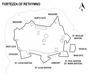 Карта крепости Фортецца