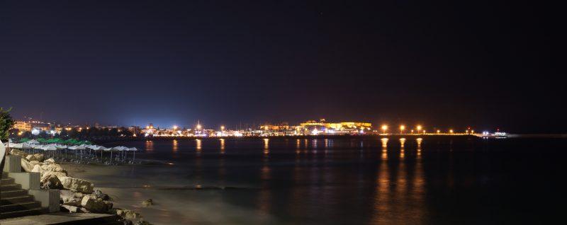 Ретимно крепость фортезза ночью