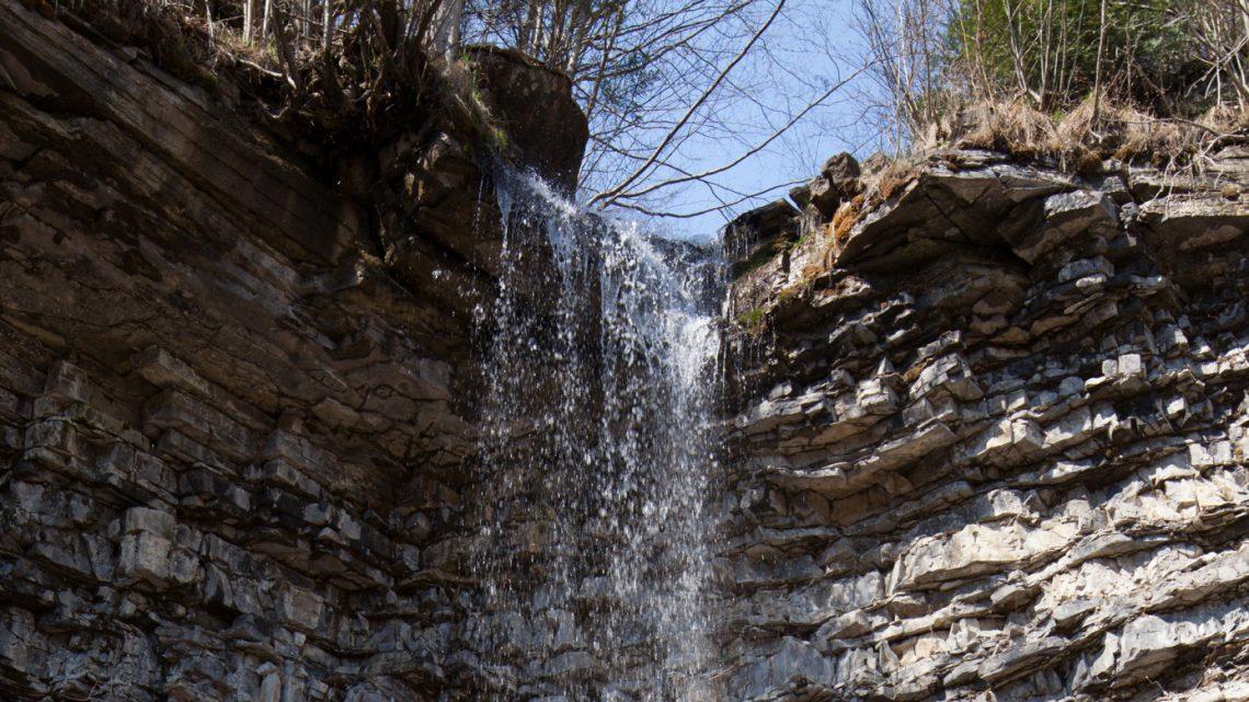 Крапельковий водоспад. Панорама 360