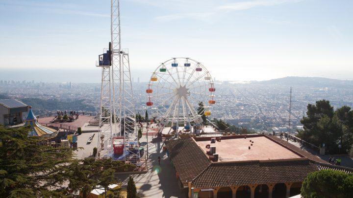 Гора Тибидабо и старейший парк аттракционов  в Барселоне