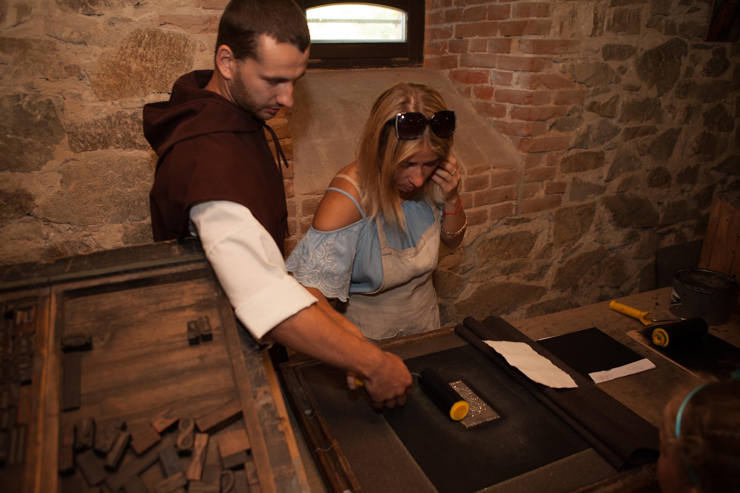Папирня в замке Радомысль